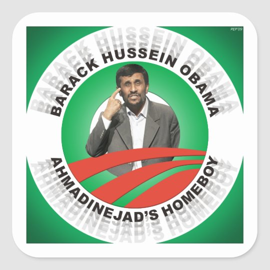 Ahmadinejads Homeboy Square Sticker