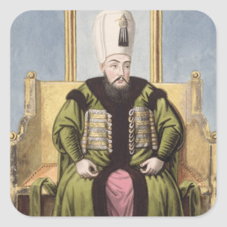 Ahmed I (1590-1617) Sultan 1603-17, from 'A Series Square Sticker
