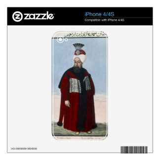 Ahmed II (1642-95) Sultan 1691-95, from 'A Series Decal For The iPhone 4S