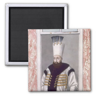 Ahmed III (1673-1736) Sultan 1703-30, from 'A Seri 2 Inch Square Magnet