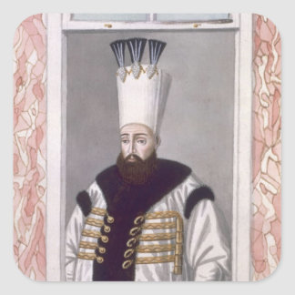 Ahmed III (1673-1736) Sultan 1703-30, from 'A Seri Square Sticker