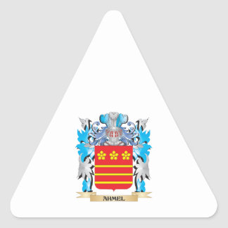 Ahmel Coat Of Arms Triangle Sticker