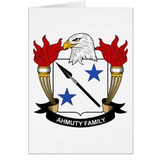 Ahmuty Family Crest Card