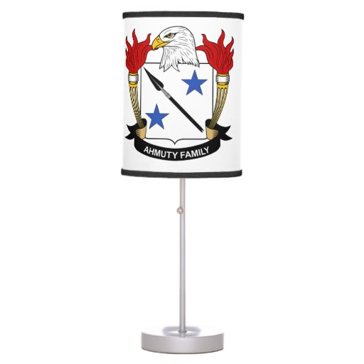 Ahmuty Family Crest Lamp