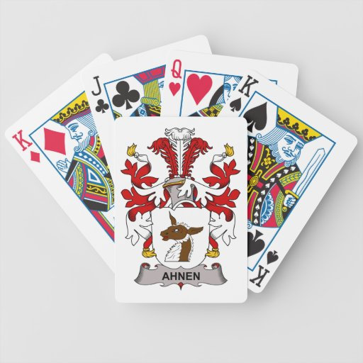 Ahnen Family Crest Bicycle Playing Cards