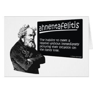 Ahnentafeilitis Greeting Card
