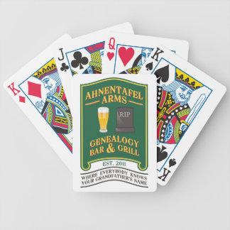 Ahnentafel arma la barra y la parrilla de la genea baraja de cartas