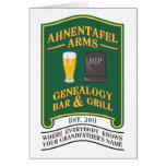 Ahnentafel Arms Genealogy Bar & Grill. Card