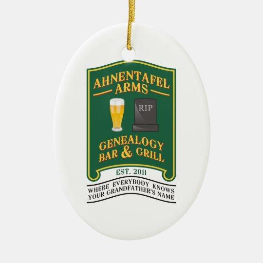 Ahnentafel Arms Genealogy Bar & Grill. Ceramic Ornament