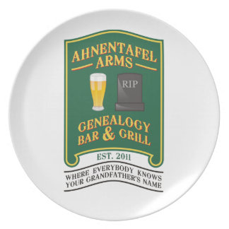 Ahnentafel Arms Genealogy Bar & Grill. Dinner Plate
