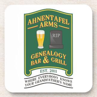 Ahnentafel Arms Genealogy Bar & Grill. Drink Coaster