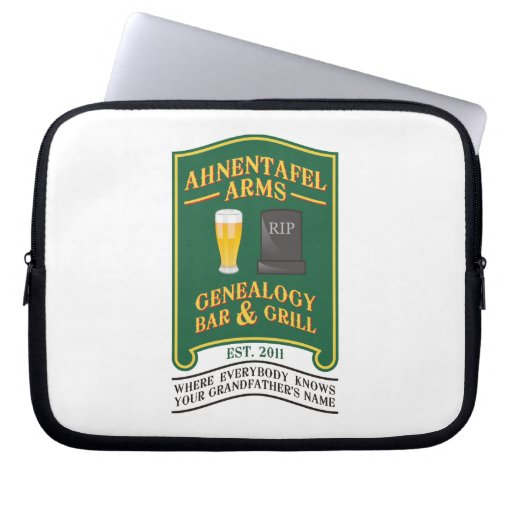 Ahnentafel Arms Genealogy Bar & Grill. Computer Sleeve