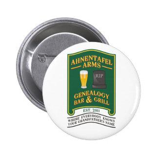 Ahnentafel Arms Genealogy Bar & Grill. Pinback Button
