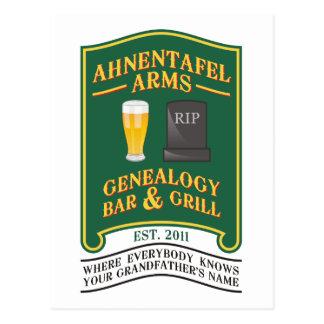 Ahnentafel Arms Genealogy Bar & Grill. Postcard
