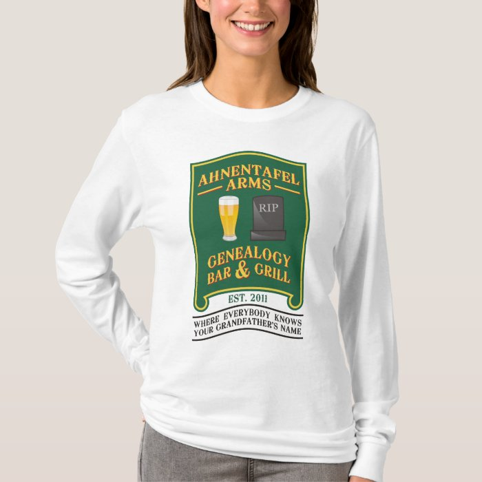 Ahnentafel Arms Genealogy Bar & Grill. T-Shirt