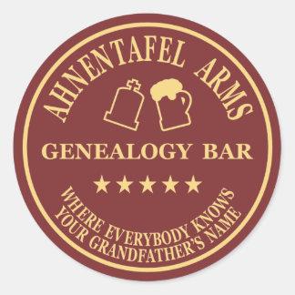 Ahnentafel Arms Classic Round Sticker