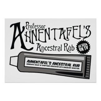 Ahnentafel s Ancestral Rub Poster