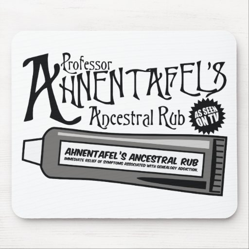 Ahnentafel's Ancestral Rub Mouse Pad