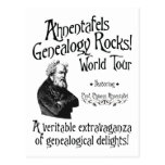 Ahnentafels Genealogy Rocks! World Tour Postcard