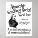 Ahnentafels Genealogy Rocks! World Tour Posters