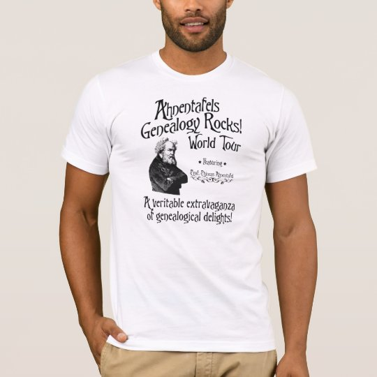 Ahnentafels Genealogy Rocks! World Tour T-Shirt