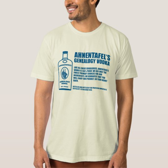 Ahnentafel's Genealogy Vodka T-Shirt