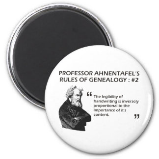 Ahnentafel's Rules of Genealogy #2 2 Inch Round Magnet