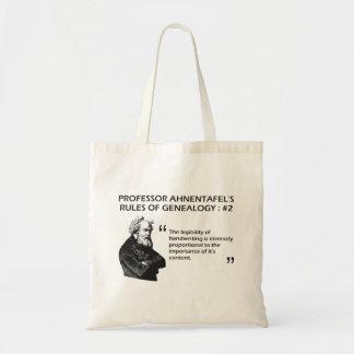 Ahnentafel's Rules of Genealogy #2 Bag