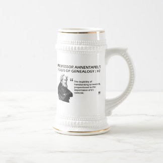 Ahnentafel's Rules of Genealogy #2 Beer Stein