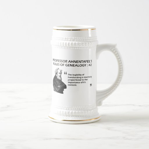 Ahnentafel's Rules of Genealogy #2 Coffee Mugs