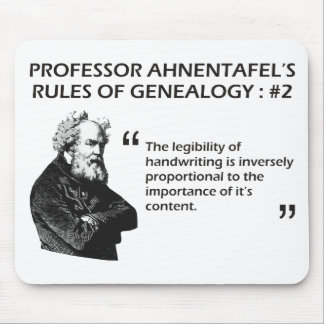 Ahnentafel's Rules of Genealogy #2 Mouse Pad