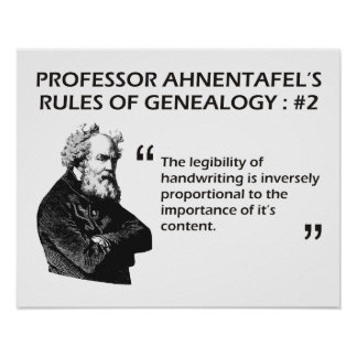 Ahnentafel's Rules of Genealogy #2 Poster
