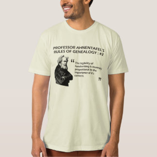Ahnentafel's Rules of Genealogy #2 Tee Shirt