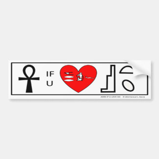 Ahnk If You Love Isis  - official bumper sticker