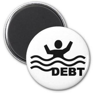 Ahogamiento en deuda imán redondo 5 cm
