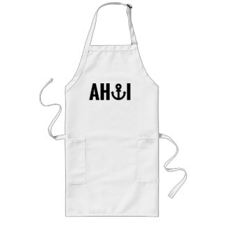 Ahoi with anchor long apron