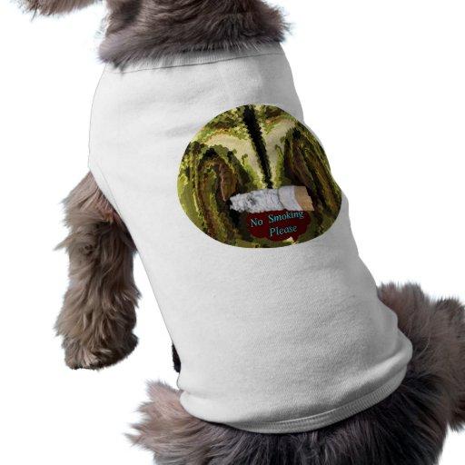 AHORA ABANDONADO - el fumar es perjudicial a la sa Camisa De Perro