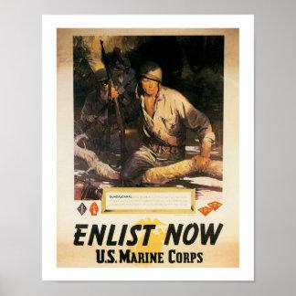 Ahora aliste - al Cuerpo del Marines de los E.E.U. Impresiones