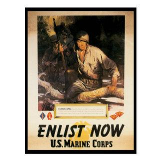 Ahora aliste la Segunda Guerra Mundial Tarjetas Postales