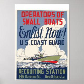 ¡Ahora aliste! Los E.E.U.U. Guardacostas Posters