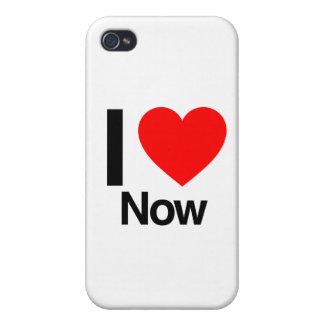 ahora amo iPhone 4 funda