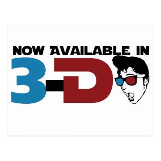 Ahora disponible en 3d postal