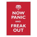 Ahora el pánico y Freak hacia fuera Felicitaciones