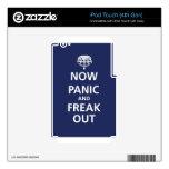 Ahora el pánico y freak hacia fuera calcomanías para iPod touch 4G