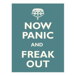 Ahora el pánico y Freak hacia fuera Postales
