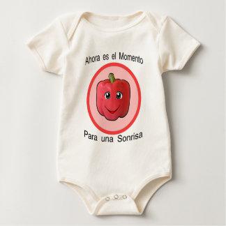 Ahora es el momento para una sonrisa -  pimiento baby bodysuit