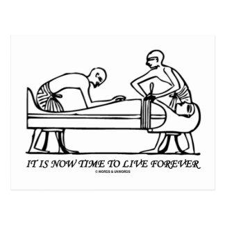 Ahora es embalsamiento egipcio del Time to Live pa Postales