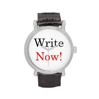¡Ahora escriba! Reloj