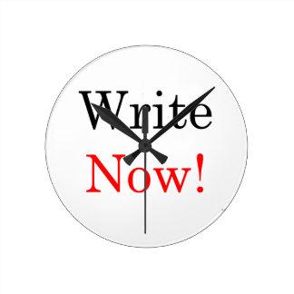 ¡Ahora escriba! Reloj de pared