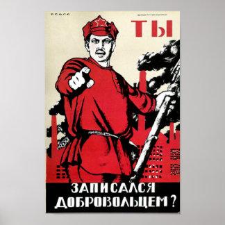 ¿Ahora está usted en el ejército rojo? Poster